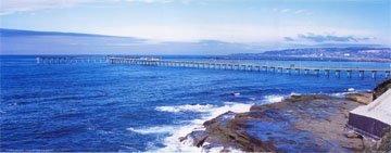 Ocean Beach Pier San Diego California Panorama Poster ()