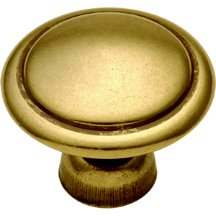 - Conquest Mushroom Knob Finish: Lustre Brass