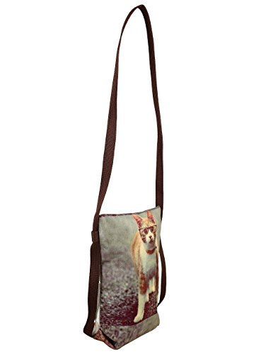 With Printed Cross Glasses Silk Dainty Dupion Sling Body Cat For Bag Girls Pussy Digitally 86xHXn