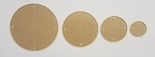 Circle Quilting Template Set, 4'', 3'', 2'', 1'' with 1/4'' Seam Allowance by LaserThing