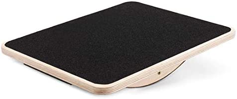 FORLRFIT Professional Wooden Balance Board, Rocker Board-17 Full Anti-Slip Surface, Wobble Board for Standing Desk, AB Fitness Board,Physical Therapy Equipment for Stretching