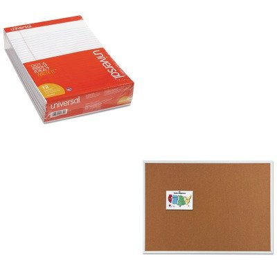 KITQRT2307UNV20630 - Value Kit - Quartet Cork Bulletin Board (QRT2307) and Universal Perforated Edge Writing Pad (UNV20630) by Quartet