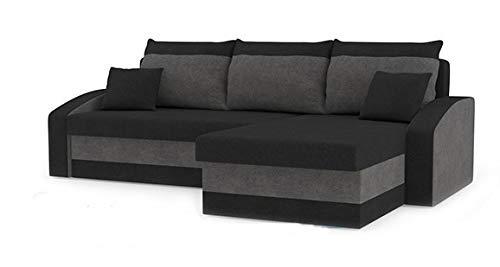 Awesome Romano Furniture Corner Sofa Bed Hewlet Blackgrey Interior Design Ideas Clesiryabchikinfo