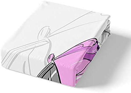 BCDJYFL Imprimé Housse De Couette Voiture Rose d'impression Housse De Couette Microfibre, 3D Housse De Couette pour Chambre À Coucher.220X240Cm(Pas De Remplissage)