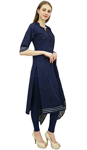 coton Dress Marine Atasi Salwar Indian Bleu Salwar Suit brode Readymade Pantalon Kameez de ZZpvX