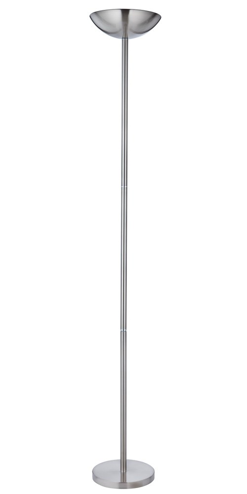 Powerful and dimmable satin chrome floor lamp uplighter by haysom interiors amazon co uk lighting