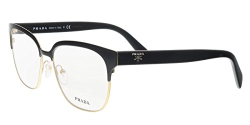 Prada PR54SV Eyeglass Frames 1AB1O1-54 - Black/pale Gold - Prada Buy Eyeglasses