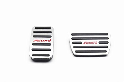 OLIKE 2 Pcs Aluminum Alloy Car Fuel Accelerator Pedal Brake Pedal Cover Kit for Honda Accord 9TH 2013-2017