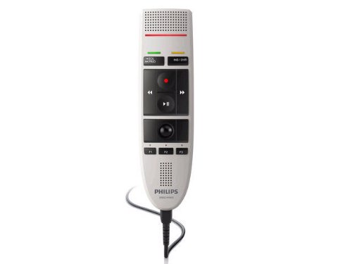 Philips LFH3210 SpeechMike III Classic (Slide Switch Operation) USB Professional PC-Dictation Microphone, Office Central