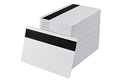 100pcs CR80 PVC Waterproof Printa with Hi-Co Magnetic Stripe MagStripe card