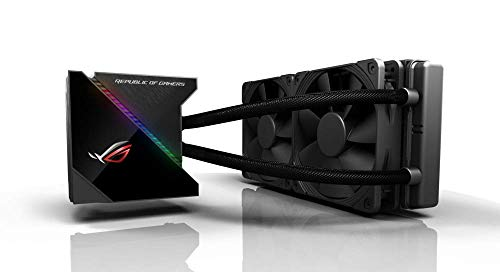 ASUS ROG Ryujin 240 All-in-One Liquid CPU Cooler with Colour OLED, Aura Sync RGB and Noctua iPPC 2000 PWM 120 mm Radiator Fan