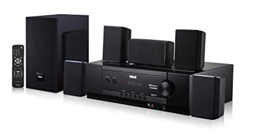 RCA (RT2781HB U) 1000-Watt Audio Receiver Home Theater System - Digital 5.1 Surround Sound & AM/FM Tuner, (Bluetooth and USB Playback)