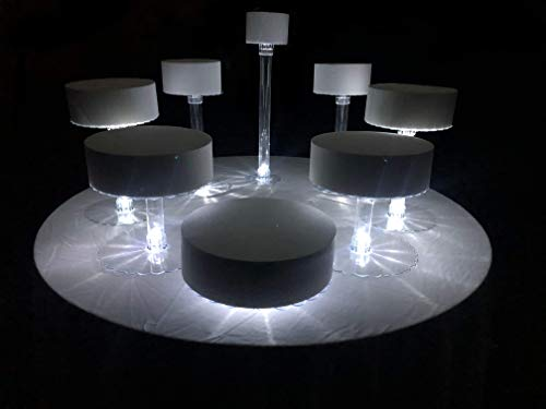 Multi Tier Cake Stand with White LED Lights (8 Tier Stand, WithOut Fountain)