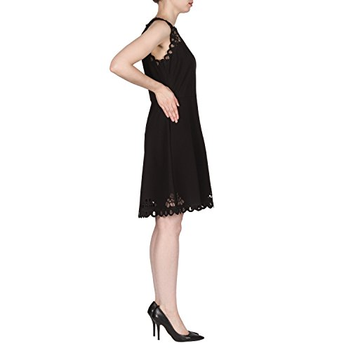 Joseph Ribkoff Laser Cut Lace Sleeveless Dress Style 173314 Size 12 by Joseph Ribkoff (Image #2)