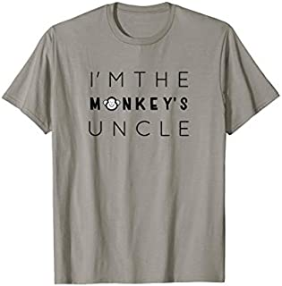 Cool gift I'm The Monkey's Uncle, Uncle , Funny Uncle Gift Women Long Sleeve Funny Shirt / Navy / S - 5XL