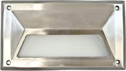 DABMAR LIGHTING DSL1027-SS304 Step Light Hooded 7 Watt PL7 120 Volts, Stainless Stain