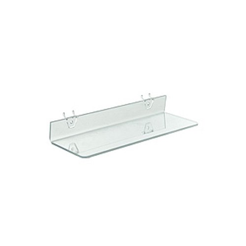 Count of 4 New Retails Clear Acrylic Shelf For Pegboard & Slatwall 16