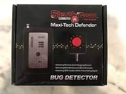 Sleuthgear Maxi-Tech Defender Law-Grade Counter Surveillance PRO Sweep 10GHz - RF Detection + Camera Lens Finder - Handheld Bug Sweep Detects All Active GPS Live Trackers + Hidden Cameras