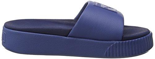 Indigo Platform Puma Donna Zeppa Blu con Sandali Wns Slide peacoat Blue 1z6wPz
