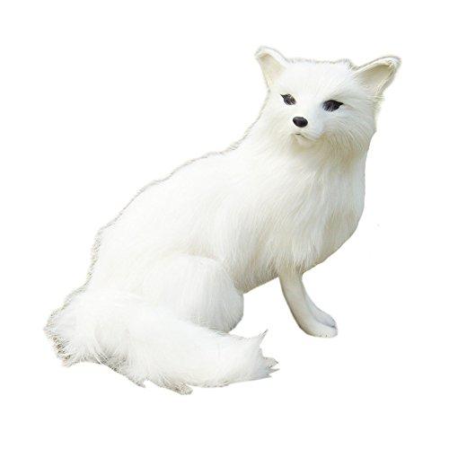 Kylin Express Cute Simulate White Fox Plush Toy Stuffed Animal (20816CM)
