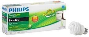 Philips Energy 9 watt Twister 4 pack