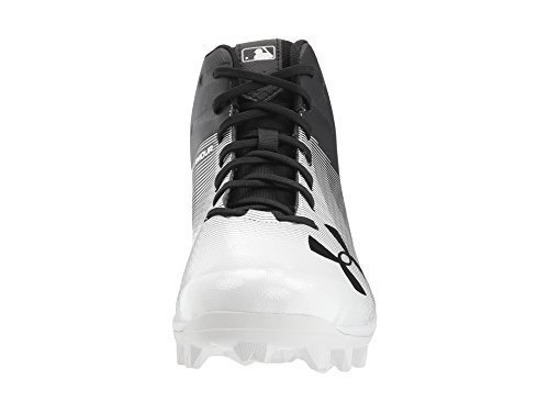 Under Armour Men's Leadoff Mid RM, Black (001)/White, 13