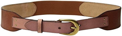 Fossil Casual Belt (Fossil Women's Riveted Neutral Block Leather Belt Accessory, -natural,)