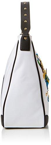 Braccialini Keira, Borsa a Spalla Donna, 34x32x14 cm (W x H x L) Bianco