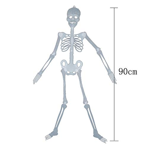 Ochine Halloween Scene Layout Props Horror Luminous Plastic Skeleton Rotatable Haunted House Scary Props Halloween Party Supplies