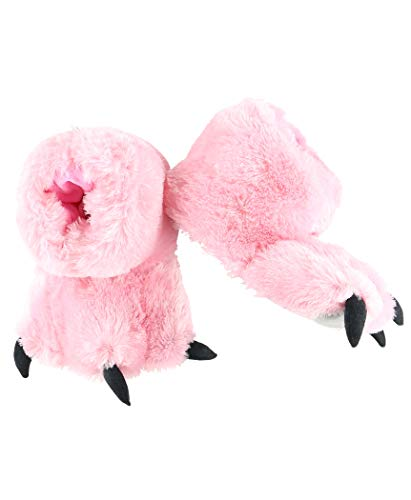 Pink Bear Paw Animal Paw Slippers for Kids and Adults by LazyOne | Fun Fuzzy Costume Footwear (X-Large)