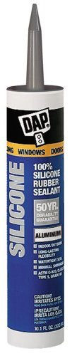 Dap Inc 08643 12 Pack 10.1 oz. 100% Silicone Window, Door and Siding Sealant, Aluminum