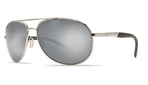 Costa Del Mar Wingman 580P Polarized Sunglasses in Palladium & Silver Mirror - Del Wingman Costa Mar