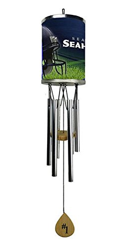 Rico Wind Chime, Seattle Seahawks plate rolled in on the chime body