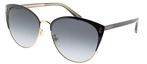 8e7d106acac Gucci GG 0197SK 002 Black Metal Fashion Sunglasses Grey Gradient Lens