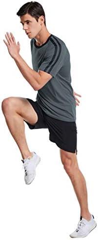 Zengjo Moisture Wicking Athletic Shirts for Men
