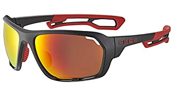 Cébé Upshift Gafas de Sol Adultos Unisex Matt Black Red ...