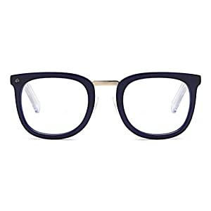 "PRIVÉ REVAUX ""The Alchemist"" Handcrafted Designer Eyeglasses With Anti Blue-Light Blocking Lenses (Blue)"