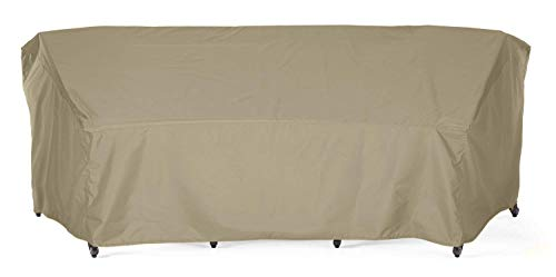 SunPatio Outdoor Crescent Curved Sectional Sofa Cover with Seam Taped, 120
