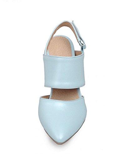 Aisun Women's Chic Hollow Out Pointy Slingback Stilettos High Heels Sandals Pumps Blue 0CHeRc4iu