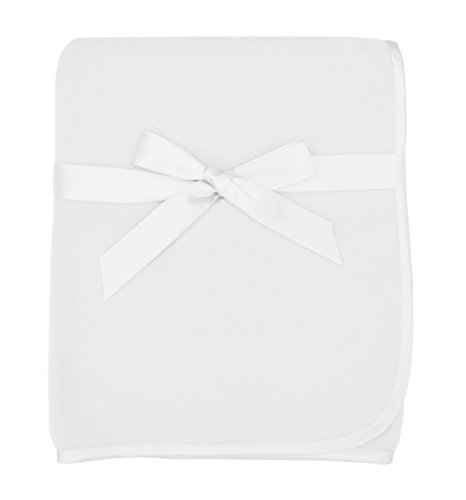 - American Baby Company Fleece Blanket, White, 30 x 30, for Boys and Girls