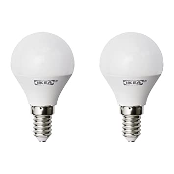 ZigZag Trading Ltd IKEA RYET - Bombilla LED E14 400 lúmenes Globo Opal Blanco: Amazon.es: Hogar