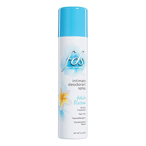 FDS Hypoallergenic Intimate Deodorant Spray, White Blossom 2 Ounce - Spray Blossom White