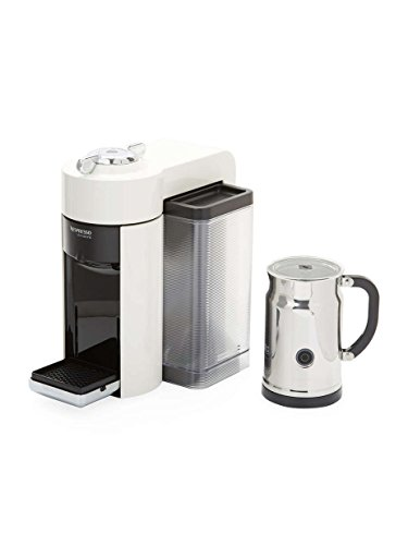Nespresso A+GCC1-US-WH-NE VertuoLine Evoluo Coffee & Espresso Maker with Aeroccino Plus Milk Frother, White For Sale