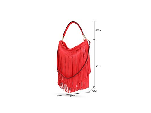 Craze London - bolsas Hobo niña Mujer Bebé unisex Red
