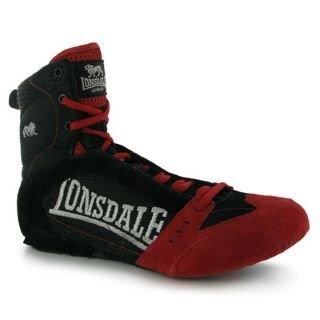 Lonsdale Hurricane Mens Boxing Boots Black/Red 10 UK UK