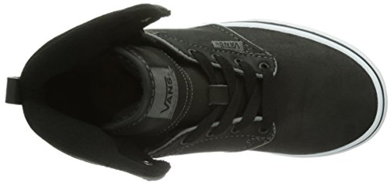 Vans Y Atwood Hi VVH1L3N, Unisex-Child Hi-Top, Black (Leather Black L3N), 1 UK