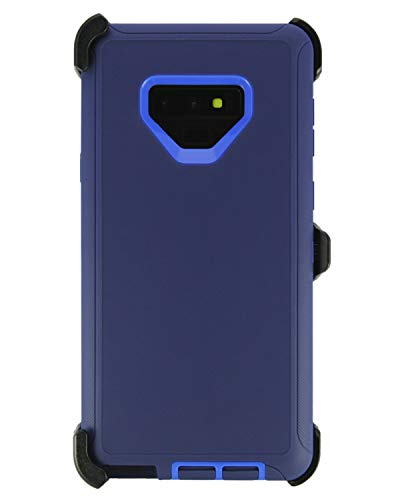 WallSkiN Turtle Series Cases for Samsung Galaxy Note 9 (Only) Tough Protection with Kickstand & Holster - Midnight (Navy Blue/Blue) (Galaxy S5 Case Jaws)