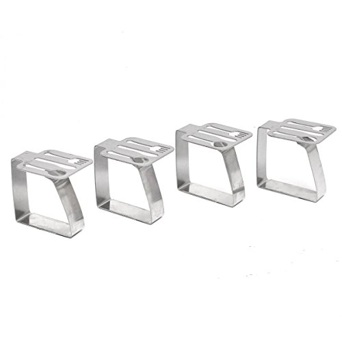 KINGSO Stainless Adjustable Tablecloth Clamps