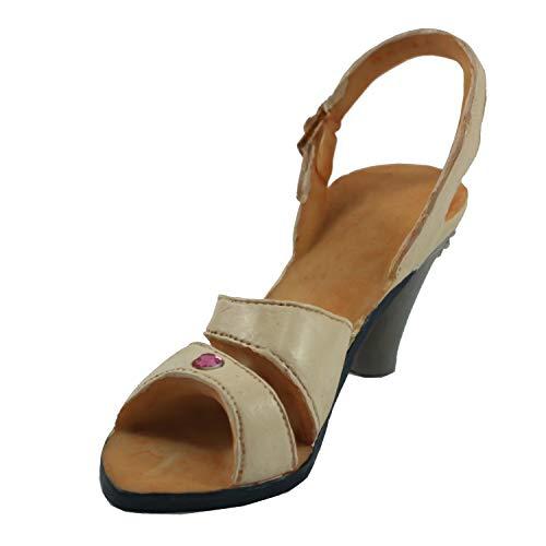 Connie N Randy Beige Sling Back Angel Heel Shoe Figurine