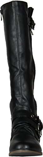 8 Boots BLACK 14 Chapter Buckle Riding 14 Chapter nq4SBWB0